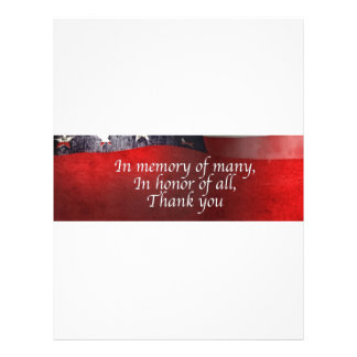 In Memory Of Many In Honor Of All Thank You Letterhead