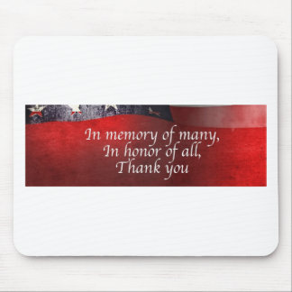 In Memory Of Many In Honor Of All Thank You Mouse Pad