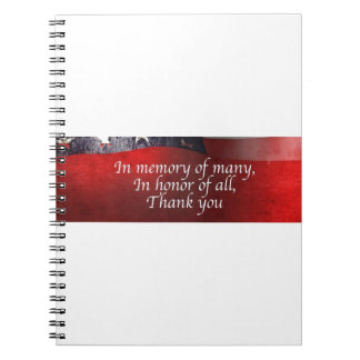 In Memory Of Many In Honor Of All Thank You Notebooks