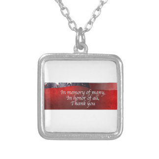 In Memory Of Many In Honor Of All Thank You Silver Plated Necklace