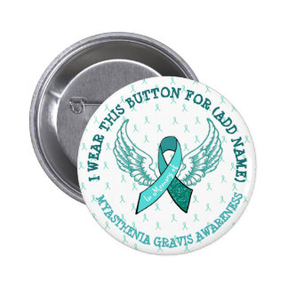 In Memory of MG Warrior Awareness Ribbon Button