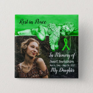 In Memory of My Daughter Lyme Memorial Button