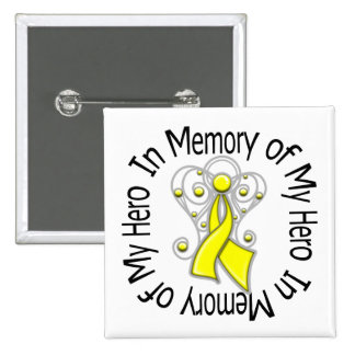 In Memory of My Hero Suicide Prevention Button