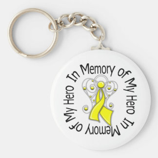 In Memory of My Hero Suicide Prevention Basic Round Button Keychain