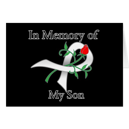 In Memory of My Son - Lung Cancer Greeting Card