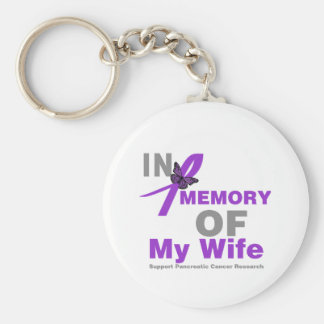 In Memory of My Wife Pancreatic Cancer Key Chains