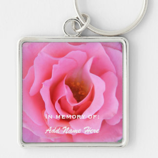 In Memory Of: Pink Rose Keychain
