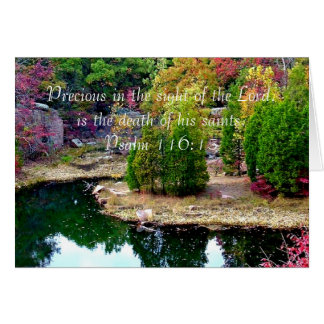 In Memory of Psalm 116:15 Greeting Card