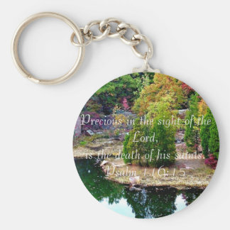 In Memory of Psalm 116:15 Keychain