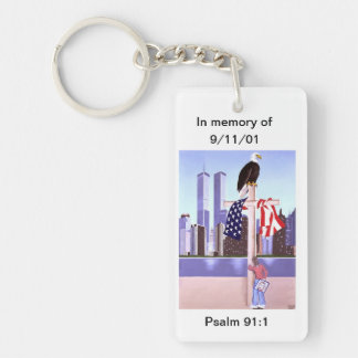 In Memory of September 11th, 2001 Single-Sided Rectangular Acrylic Keychain