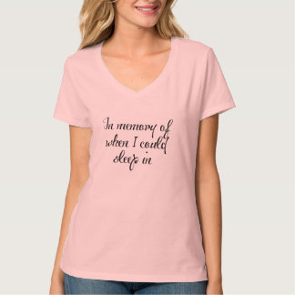 in memory of sleep in funny t-shirt gift idea
