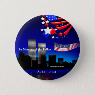 In Memory of the Fallen Sept 11 Memorial Button