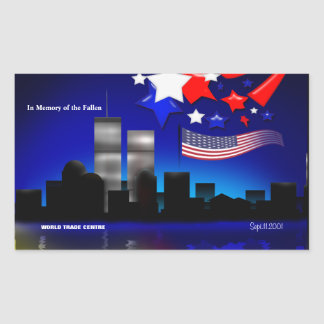In Memory of the Fallen Sept 11 Memorial Sticker