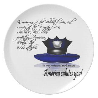 In Memory of the Fallen Sept. 9/11 Memorial Plate