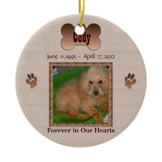 In Memory of Your Dog Round Ceramic Ornament