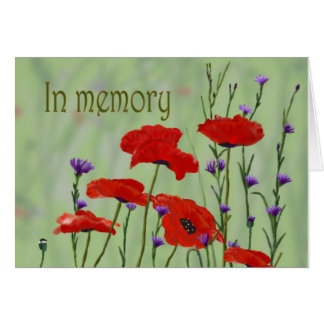 In Memory Poppies Customize it Card