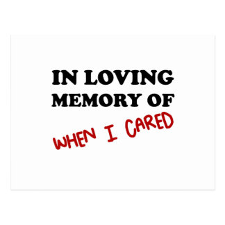 In Memory When Cared Postcard