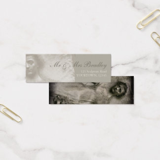In Memory Woman and Flowers Business Card