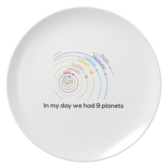 In My Day We had Nine Planets Plate