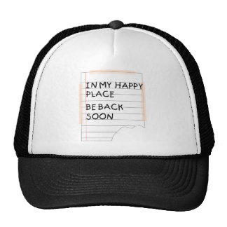 In My Happy Place - Funny Note Trucker Hat