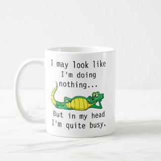 In my head I'm quite busy funny coffee mug