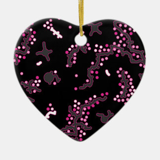 In my mind - pink ceramic heart ornament
