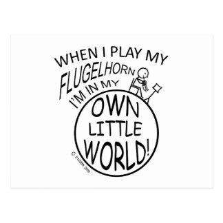 In My Own Little World Flugelhorn Postcard
