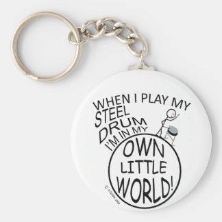 In My Own Little World Steel Drum Keychain
