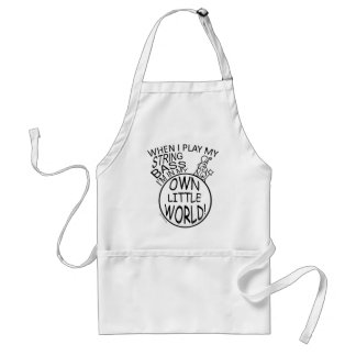 In My Own Little World String Bass Apron