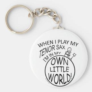 In My Own Little World Tenor Sax Keychain