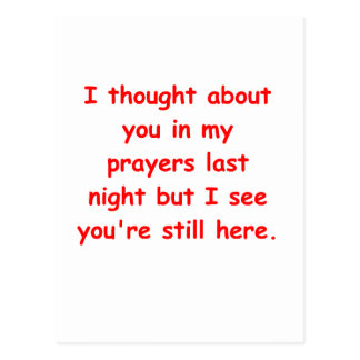 in my prayers postcard