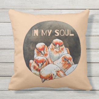 in my soul throw pillow