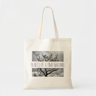 In need of a time machine tote bag