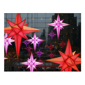 In New York City. Christmas decoration inside Postcard