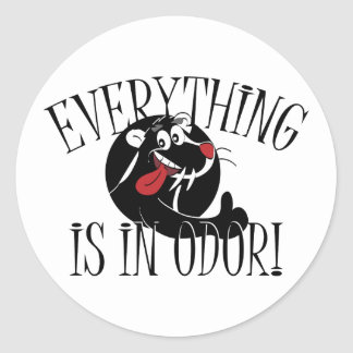 In Odor Skunk Round Sticker