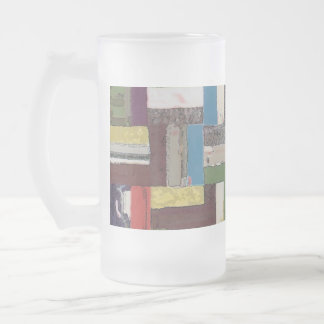 IN ORBIT - Abstract 16 Oz Frosted Glass Beer Mug
