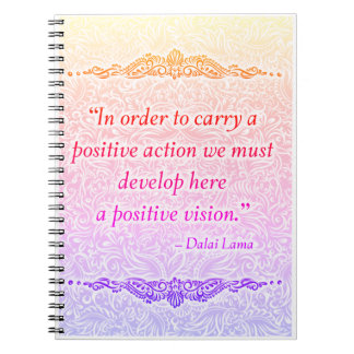 In order to carry a positive - Positive Quote´s Notebook
