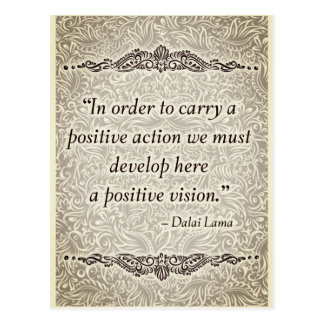 In order to carry a positive - Positive Quote´s Postcard