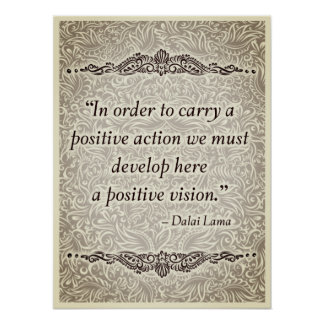 In order to carry a positive - Positive Quote´s Poster