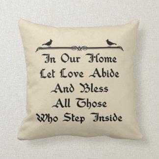 In Our Home Let Love Abide Farmhouse Throw Pillow