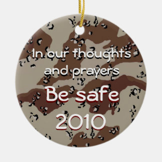 In our thoughts and prayers, In our thoug... Ceramic Ornament