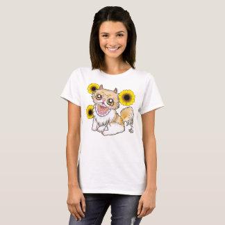 In Persian cat and sunflower ya ♪_Persian cat & T-Shirt
