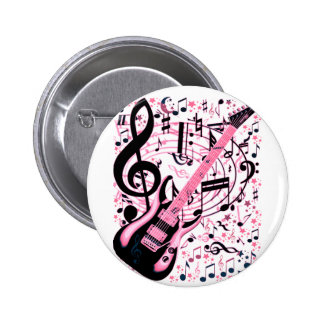 In Pink,Rock & Roll_ 2 Inch Round Button