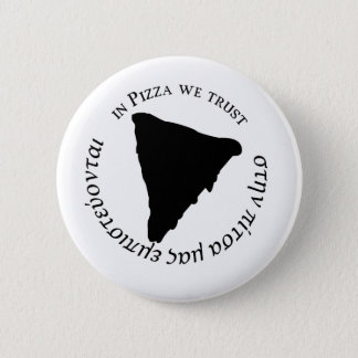 'In Pizza we Trust' Funny Graphic Design 2 Inch Round Button