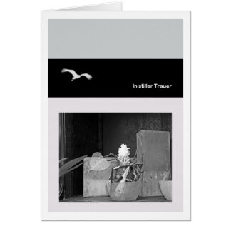 In quiet mourning greeting cards