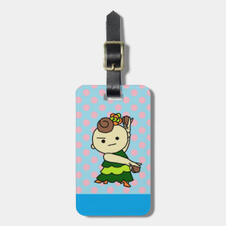 In ragetsujitagu chart on the Paris child reverse Luggage Tag
