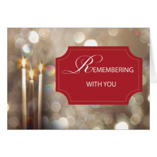 In Remembrance Christmas Candles Card