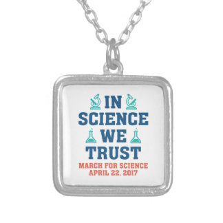 In Science We Trust Silver Plated Necklace