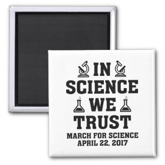 In Science We Trust Square Magnet
