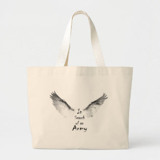 In Search of an Army Large Tote Bag